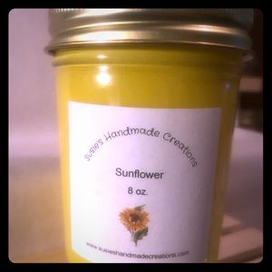 Hand poured highly scented candle